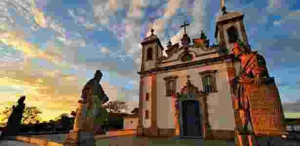 Santuário Bom Jesus dos Matosinhos, em Congonhas do Campo, uma das cidades históricas de Minas Gerais   - Divulgação/Instituto Estrada Real - Divulgação/Instituto Estrada Real