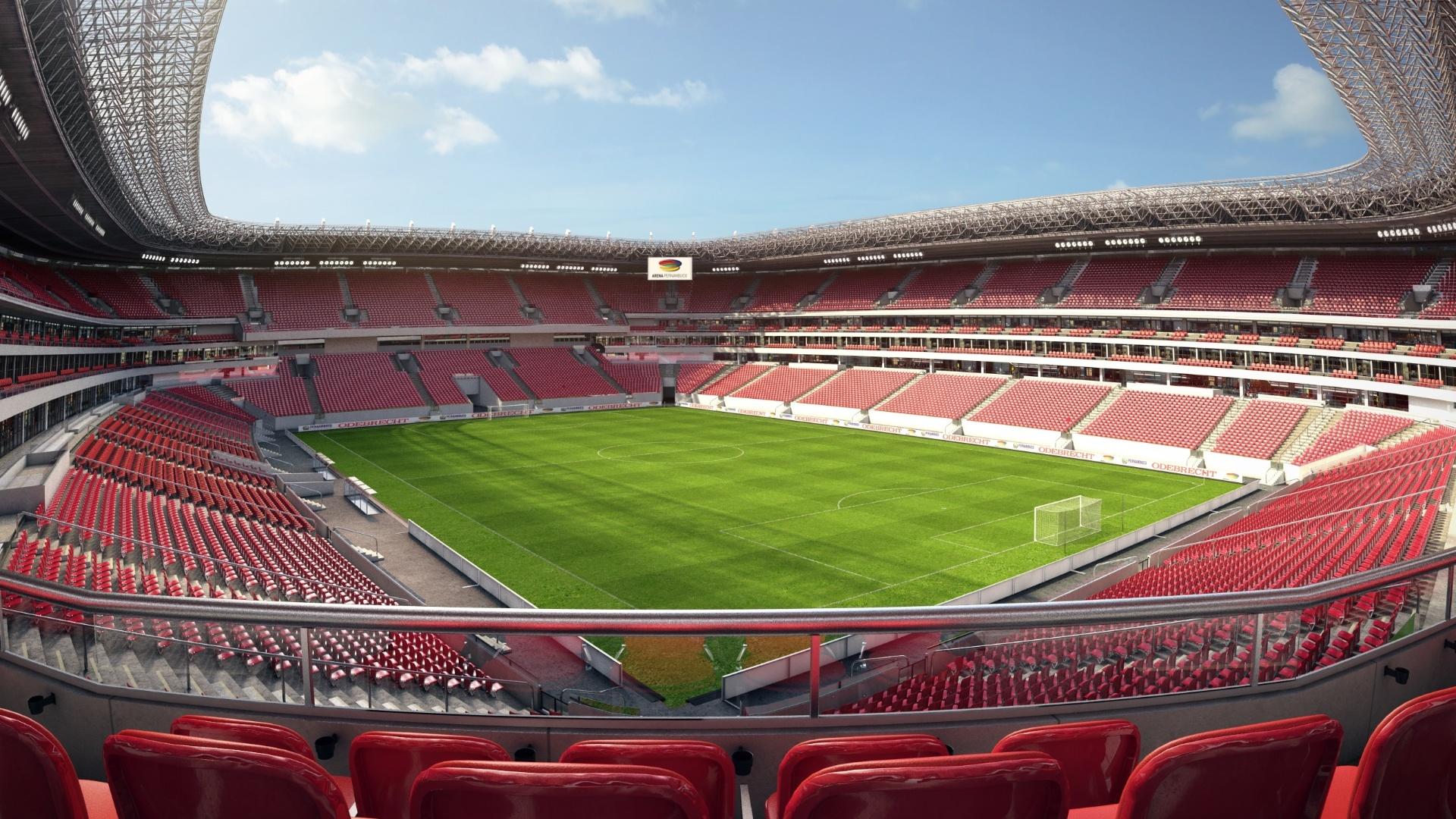 Projeção de como ficará a Arena Pernambuco depois das obras serem concluídas