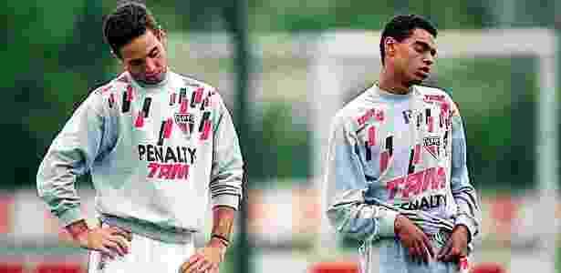 Hoje comentaristas, Caio Ribeiro e Denílson treinam pelo São Paulo em 1995 - FSP - FSP