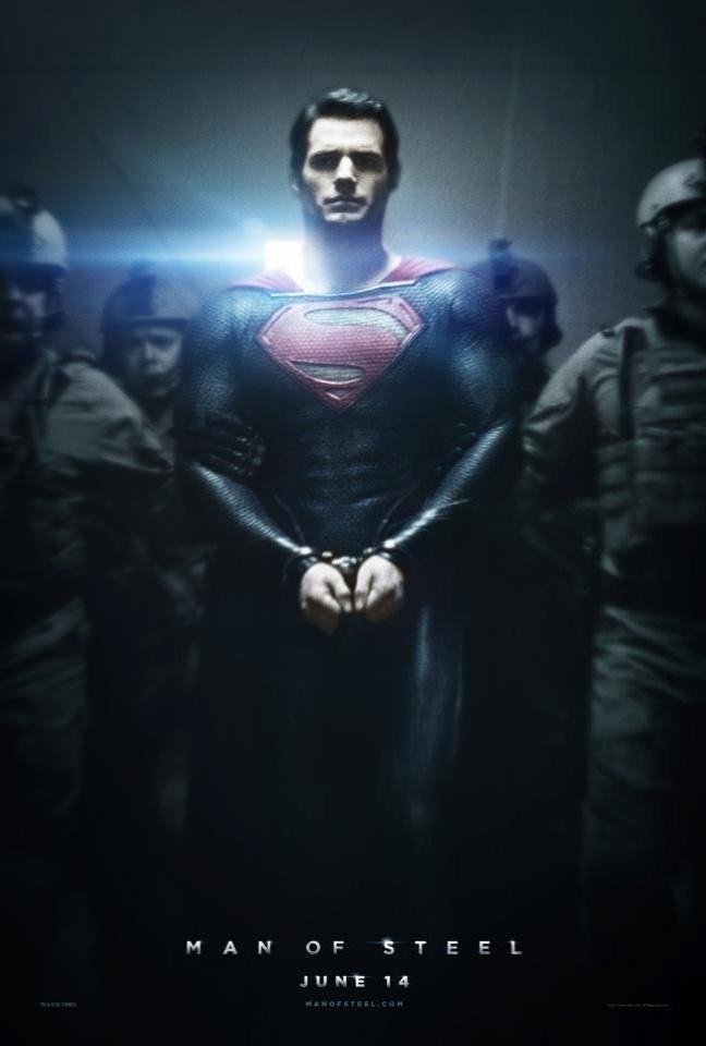 Super-Homem, interpretado por Henry Cavill, aparece algemado em novo pôster de