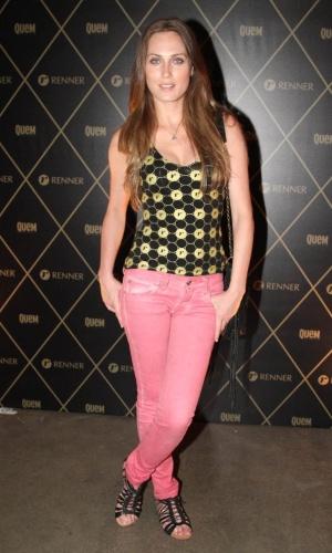 5.Dez.2012 - A modelo Elisa Joenck é uma das celebridades que foram ao camarote VIP montado por patrocinador para o show da Madonna em São Paulo