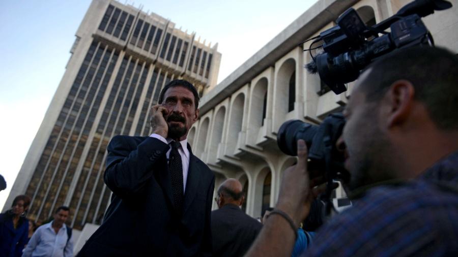 John McAfee, criador do famoso antivírus que leva seu sobrenome, será extraditado da Espanha por uma suposta infração fiscal - Johan Ordonez/AFP