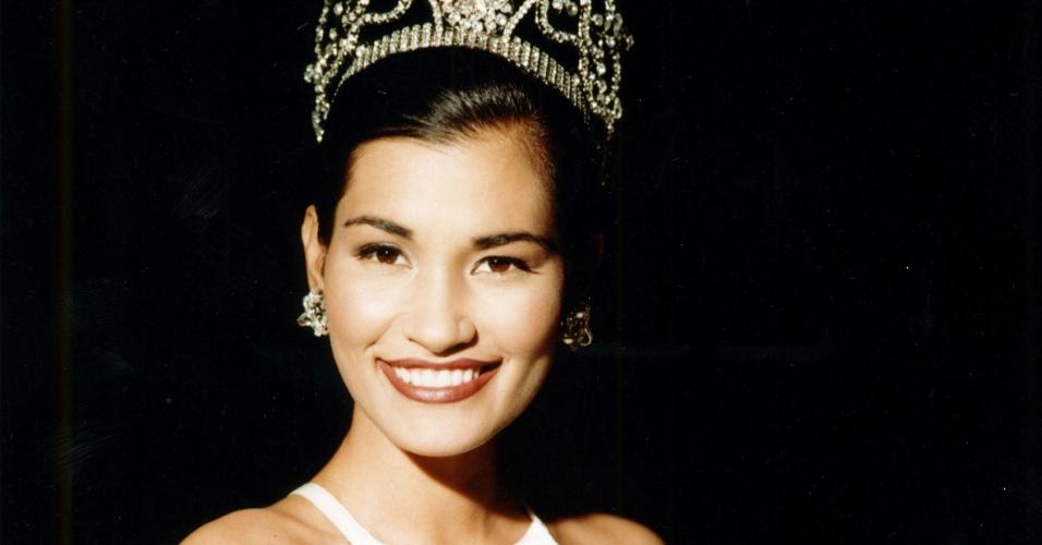 A Miss Universo 1997, Brook Lee, dos EUA, foi a mais velha da história. Ela foi coroada com 26 anos