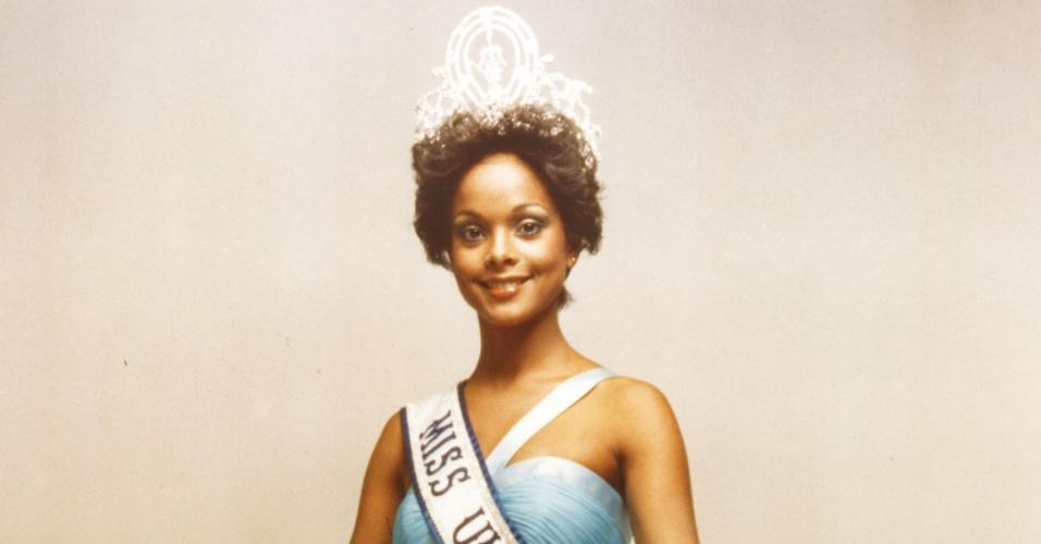 Janelle Comissiong, Miss Trinidad e Tobago, é a primeira negra a ganhar o título de Miss Universo