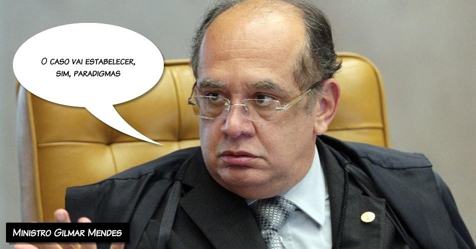 ?O caso vai estabelecer, sim, paradigmas?, disse o ministro Gilmar Mendes sobre o julgamento do mensalão