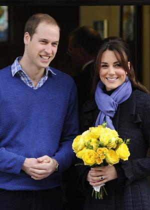 Kate Middleton já teria avisado ao marido, o príncipe William, que pretende cuidar do filho deles sem babá - Facundo Arrizabalaga/Efe