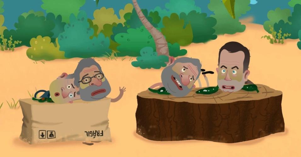 """6.dez.2012 - A produtora Plop TV vai lançar novos episódios da série animada venezuelana """"Isla Presidencial"""", que faz uma paródia dos presidentes latino-americanos"""