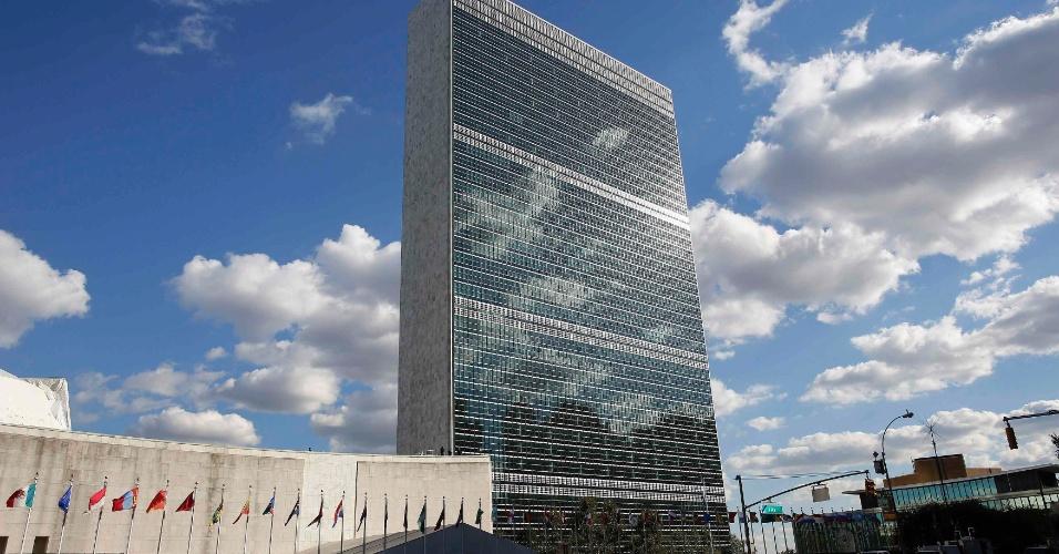 6.dez.2012 - A sede na ONU, localizada em Nova York, teve participação de Oscar Niemeyer na equipe que elaborou seu projeto. A obra foi concluída em 1952