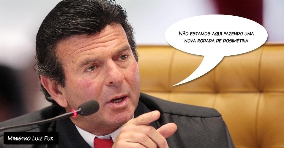 6.dez.2012 - ?Não estamos aqui fazendo uma nova rodada de dosimetria?, afirmou o ministro Luiz Fux