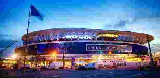 Arena do Grêmio iluminada, pronta para a inauguração neste sábado em Porto Alegre - Jefferson Bernardes/Preview.com