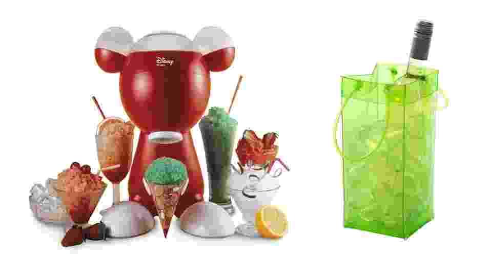 Baldes de gelo, sorveteiras, espreguiçadeiras, ventiladores, coolers... Estes e outros itens para casa podem deixar seus dias de verão mais frescos e agradáveis. Confira os produtos! - Montagem/UOL
