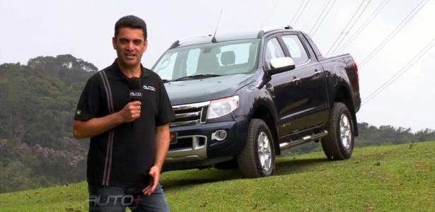 Benê Gomes, apresentador do programa Auto+, mostra as novidades da nova geração da picape