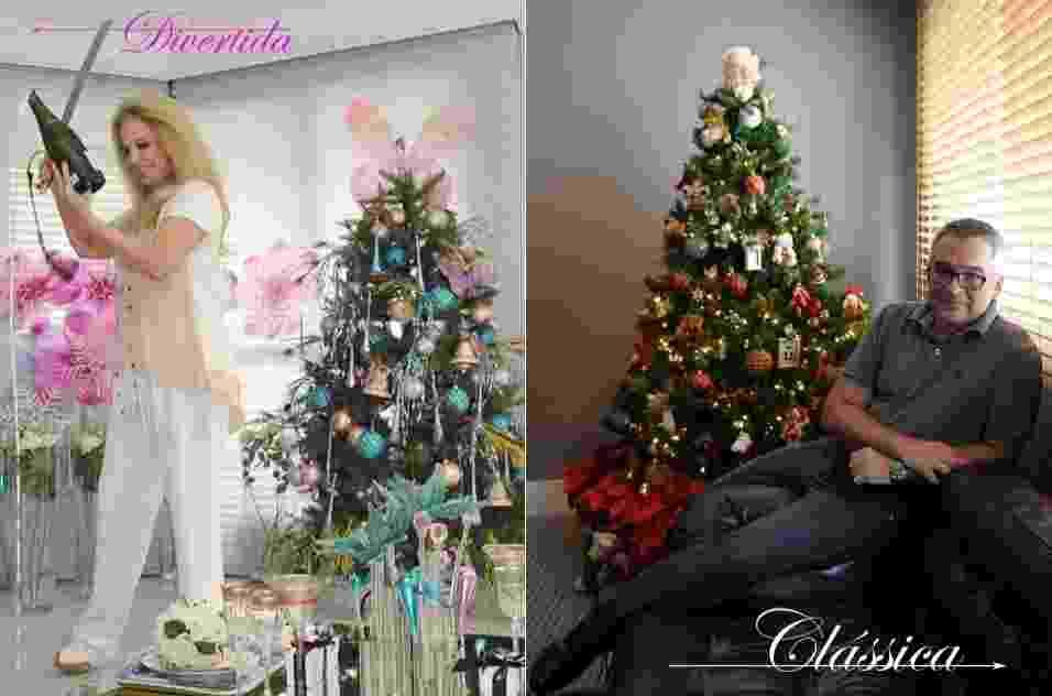 Brunette/ CaminadaPasso a passo árvore de Natal - Brunete Fraccaroli e Ricardo Caminada - Montagem/ Reinaldo Canato/ UOL