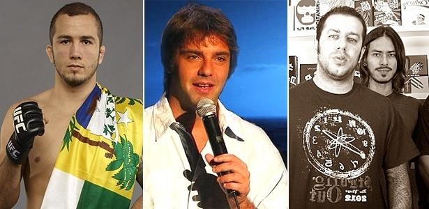 O lutador Gasparzinho, o humorista Fabio Rabin e a banda CPM 22 se uniram no evento MMA Rocks -