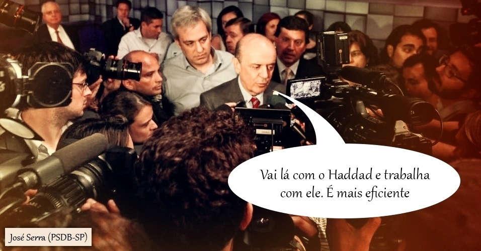 16.out.2012 - José Serra, então candidato do PSDB à Prefeitura de São Paulo, se irritou com perguntas da reportagem sobre o material anti-homofobia que distribui nas escolas estaduais em 2009, quando era governador do Estado. O tucano, que já havia atacado o chamado