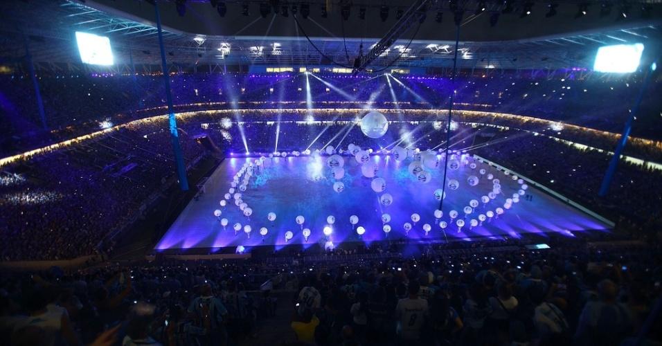 Cerimônia de inauguração da Arena do Grêmio teve ares de Olímpiada (08/12/12)