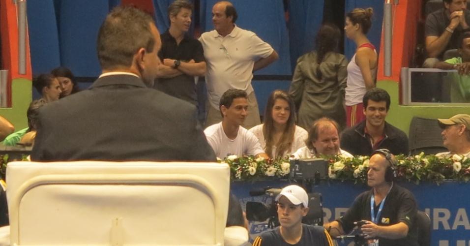 09.dez.2012-Meia do São Paulo, Paulo Henrique Ganso assiste ao último jogo de Federer em São Paulo