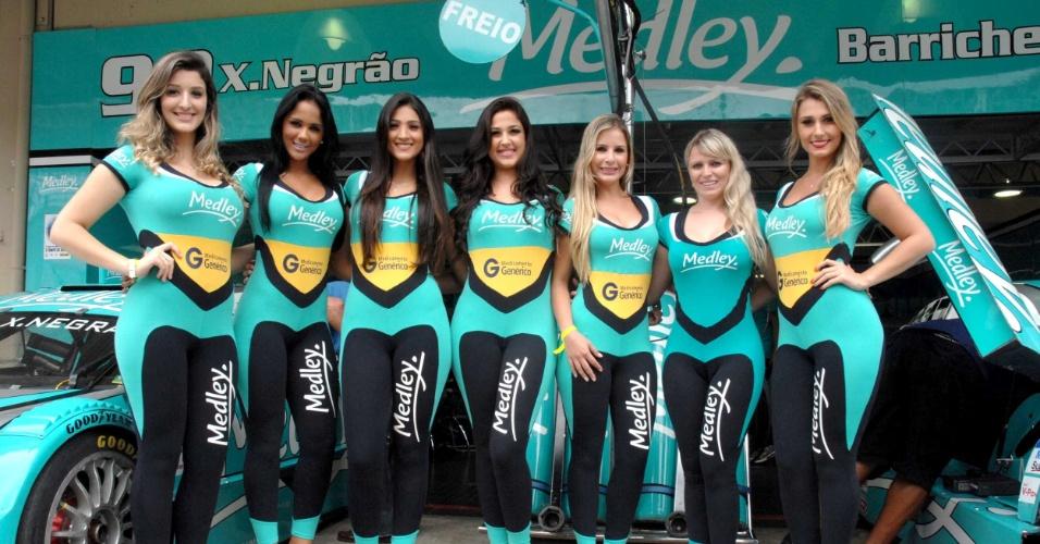 As belas grid girls também marcaram presença antes da Corrida do Milhão em Interlagos