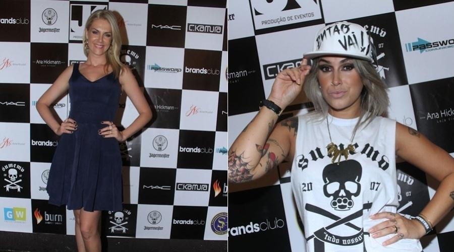 10.dez.2012 - Ana Hickmann e Dani Bolina prestigiaram um evento organizado por uma marca de roupas e acessórios em São Paulo