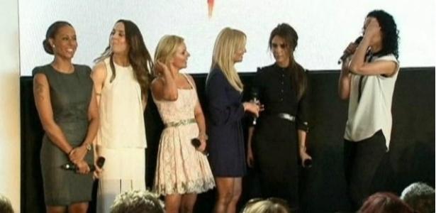 10.dez.2012 - As Spice Girls lança musical em Londres - BBC