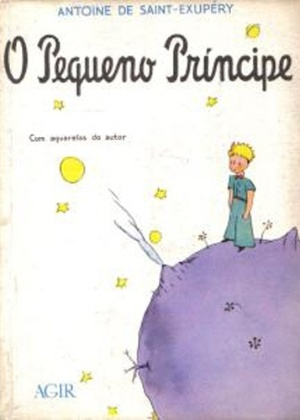 """Capa do livro """"O Pequeno Príncipe"""", de Antoine de Saint-Exupéry"""
