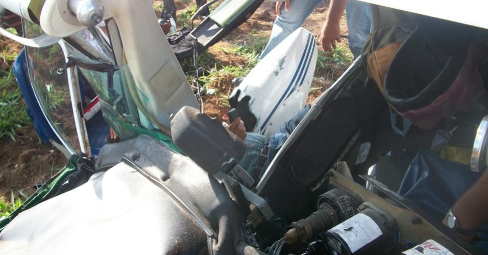 11.dez.2012 - Dois aviões bimotores caíram na região rural das cidades de Ibiá e Oliveira (foto), em Minas Gerais, na tarde do dia 10 de dezembro