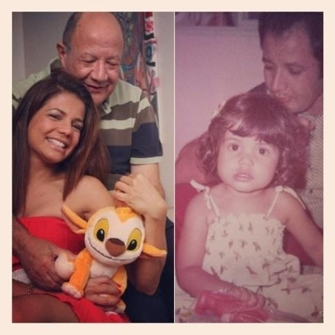 11.dez.2012 - Nívea Stelmann homenageia o pai no Twitter