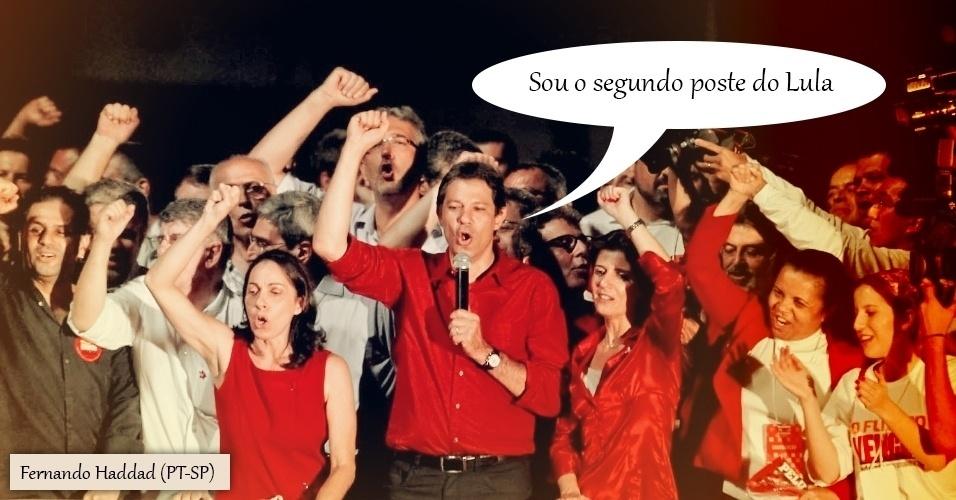 28.out.2012 - Após sua vitória nas urnas pela Prefeitura de São Paulo, o petista Fernando Haddad ironizou as críticas de que, assim como a presidente Dilma Rousseff, seria um