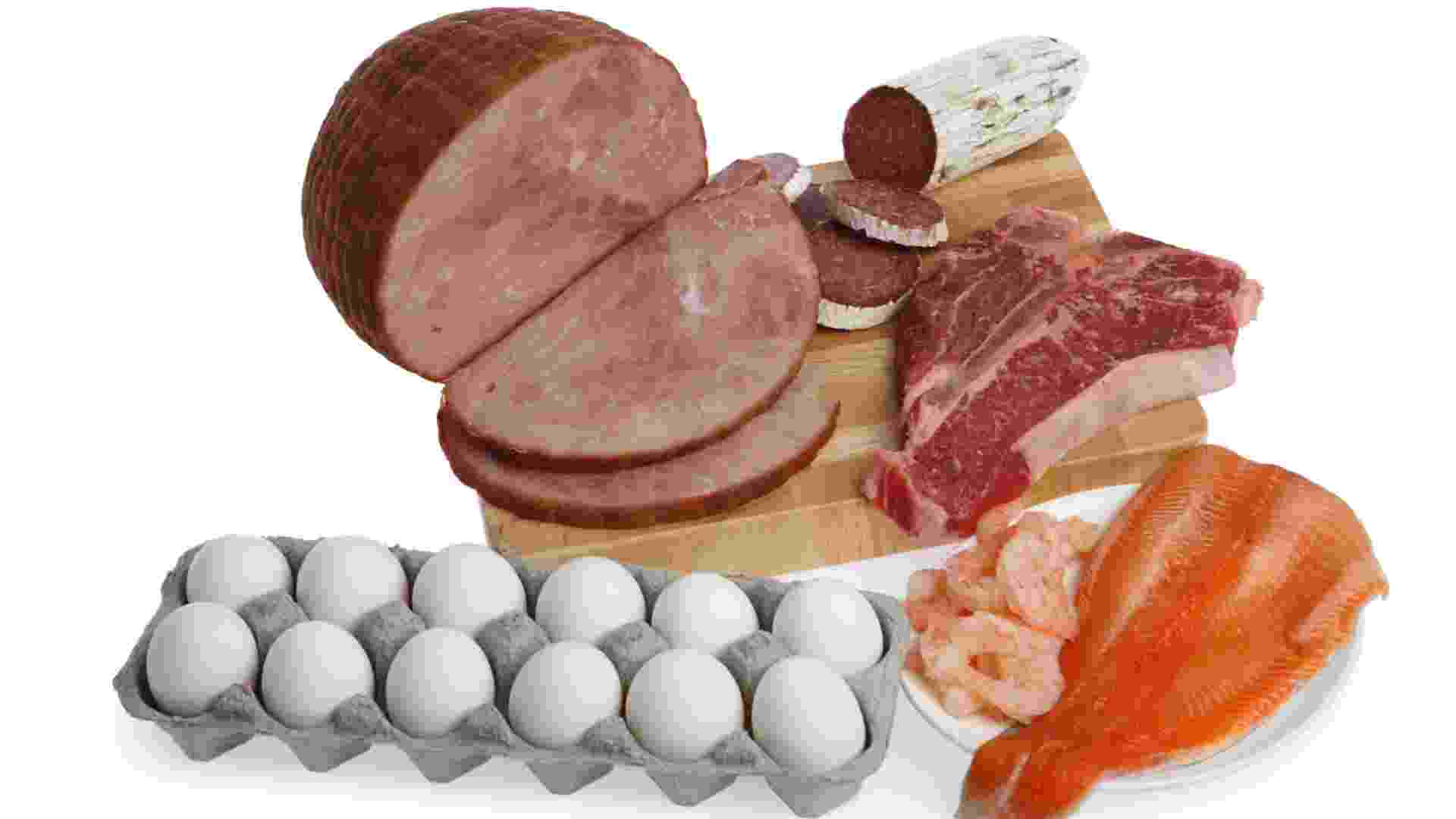 carne vermelha ovos peixe frango - Thinkstock