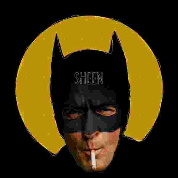 """O ator Charlie Sheen é um dos Batmans da série """"We are Batman - Can a hero really be anyone?"""" (Nós Somos Batman - Pode Qualquer Um Ser um Herói?). Na série, o designer curitibano Butcher Billy transforma famosos no cavaleiro das trevas - Behance.net/ButcherBilly"""
