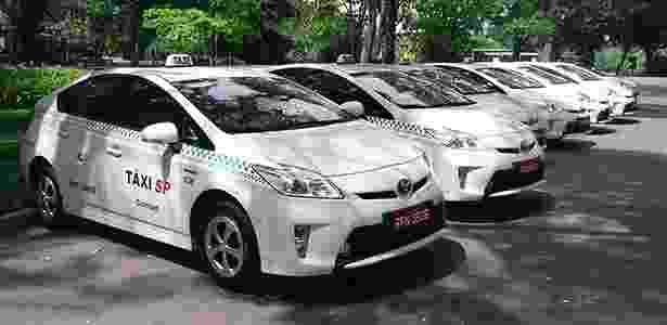 Toyota Prius viram táxi em São Paulo: unidades foram apresentadas no Parque do Ibirapuera - André Deliberato/UOL