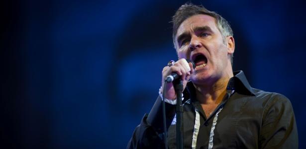 24.jun.2011 - Morrissey se apresenta no Festival de Glastonbury, em Glastonbury, Inglaterra