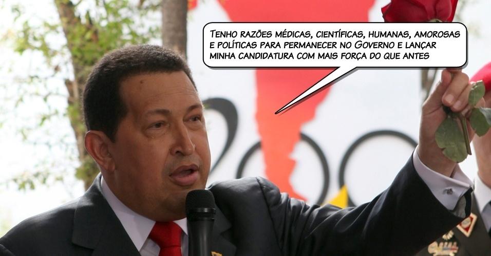 25.jul.2011 - Chávez ao confirmar que será novamenete candidato a presidente da Venezuela em 2012