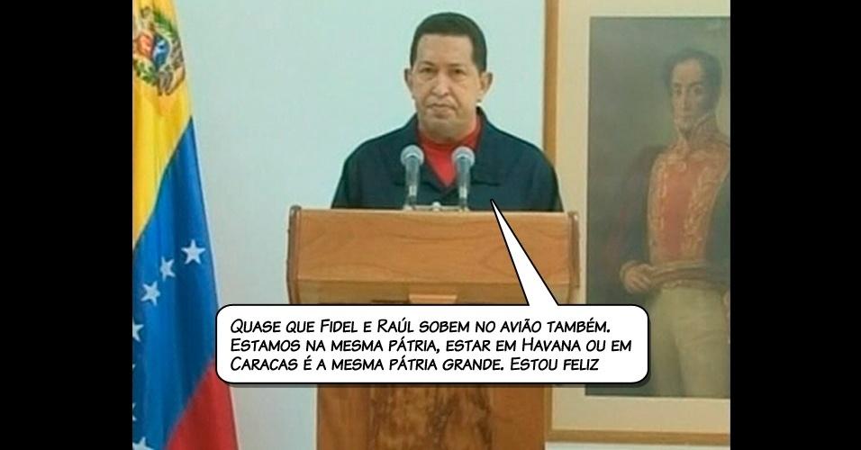 4.jul.2011 - Chávez em um vídeo transmitido pela TV estatal venezuelana