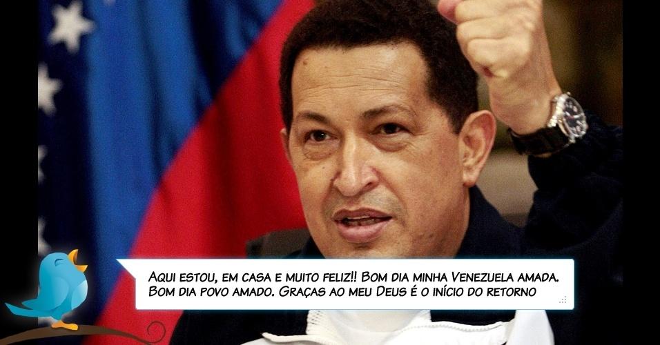 4.jul.2011 - Chávez pelo Twitter