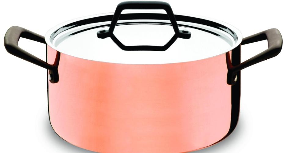 Tramontina desenvolveu a  linha Trix Cobre, panela de cobre