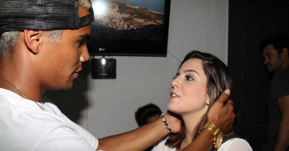 12.dez.2012 - Giovanna Lancelotti na festa de aniversário de Micael Borges, em casa de shows no Morro do Vidigal, no Rio de Janeiro
