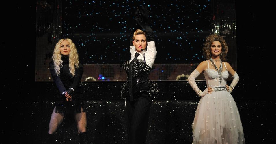 13.dez.2012 - Madonna ganhou três estátuas de cera que foram inauguradas nesta quinta no museu Madame Tussauds de Londres, na Inglaterra