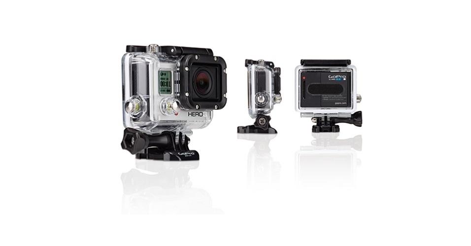 A câmera HERO3: White Edition possui Wi-Fi embutido, é à prova d'água (aguenta até 60 metros de profundidade), é capaz de fazer vídeos a 1080p, além de registrar fotos de 5 megapixels com velocidade de 10 imagens por segundo