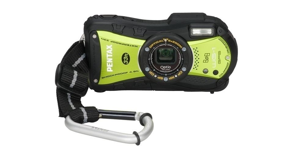A câmera OPTIO WG-2 da Pentax é projetada para aguentar água, poeira e ser mais resistente ao impactos. O gancho acoplado faz com que ela seja uma boa opção para quem gosta de escalar ou de surfar, sempre registrando as aventuras. O aparelho tem 16 megapixels. Por U$ 300 (cerca de R$ 600) na loja da marca