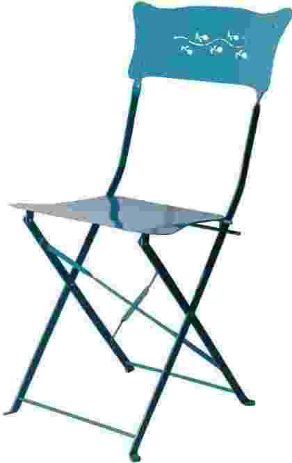 Modelo charmoso de cadeira dobrável da Kare (www.kare-saopaulo.com.br) é de metal pintado e custa R$ 356 | preços consultados em dezembro de 2012 e sujeitos a alterações - Divulgação