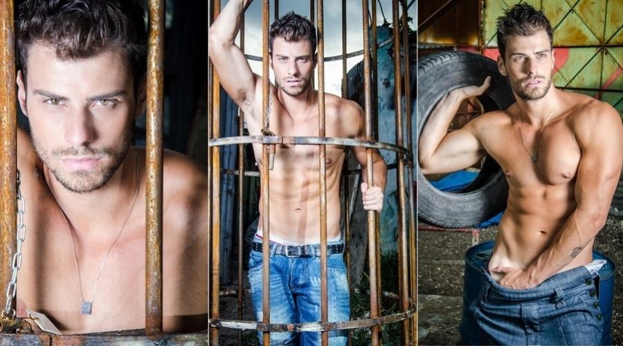 """14.dez.2012 - O modelo Lucas Malvacini é a estrela da edição de Natal da revista gay """"A Capa"""". Lucas foi Mister Brasil 2011 e chegou a namorar a modelo Bárbara Evans"""