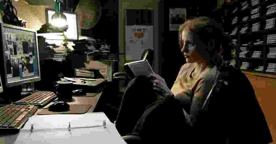 """A atriz Jessica Chastain em cena do filme """"A Hora Mais Escura"""", de Kathryn Bigelow - Divulgação"""
