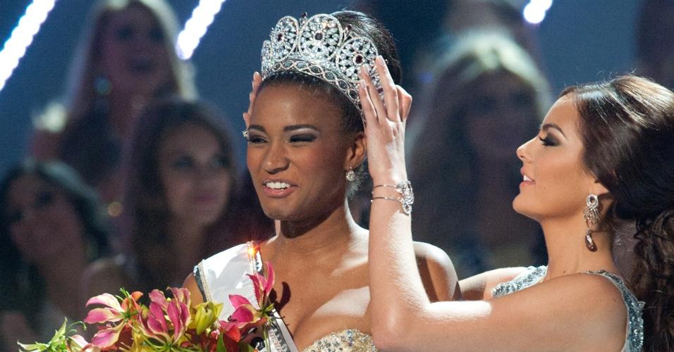 A angolana Leila Lopes venceu o Miss Universo 2011, realizado em São Paulo, no Brasil