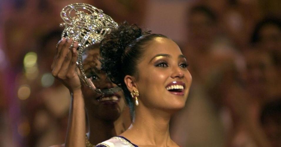 A indiana Lara Dutta venceu o Miss Universo 2000, realizado no Chipre