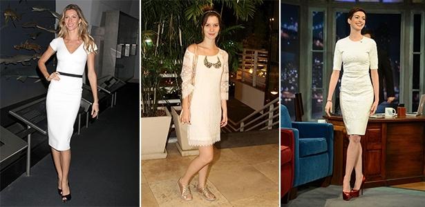 Gisele Bündchen, Nathalia Dill e Anne Hathaway mostram como usar look branco com elegância - Getty Images e Agnews