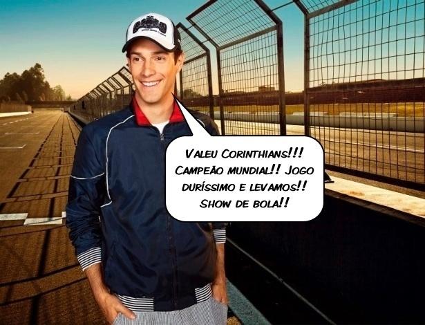 O piloto Bruno Senna comenta a conquista do Mundial pelo Corinthians