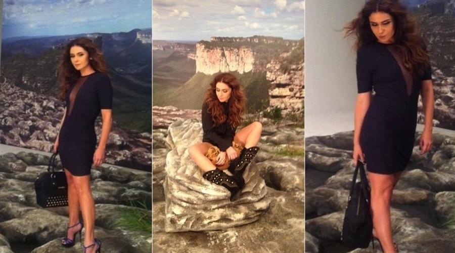 17.dez.2012 - Giovanna Antonelli fotografou para uma campanha de acessórios. As imagens dos bastidores foram divulgadas pela atriz por meio de sua página do Twitter