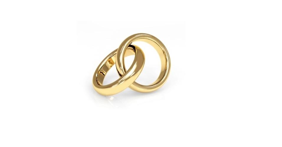 Imagem de aliança de casamento tradicional