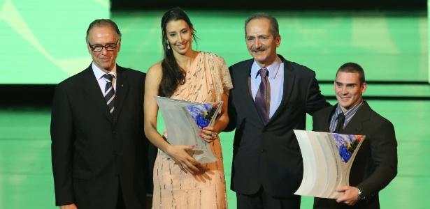 Sheilla e Arthur Zanetti foram as estrelas da noite no Prêmio Brasil Olímpico